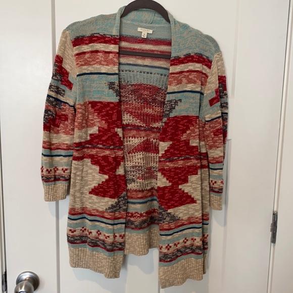 Women's Sonoma Multi Color Size Medium Cardigan